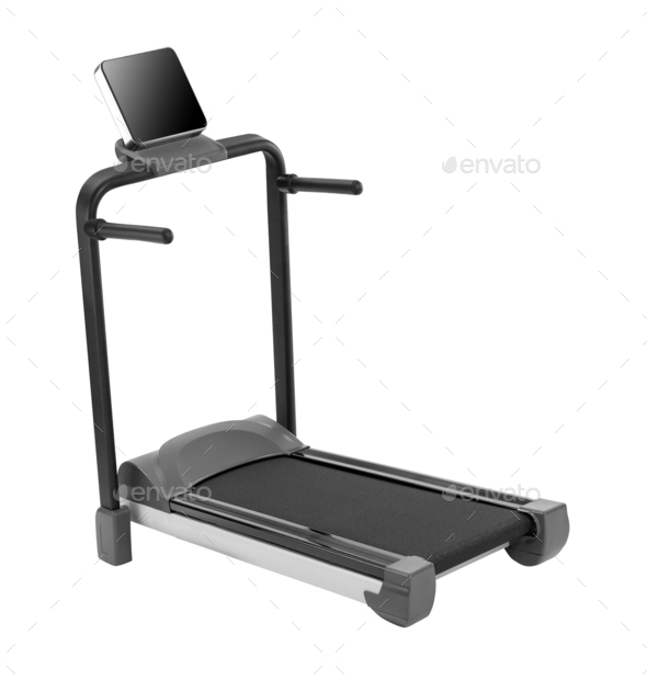 Treadmill isolated on white background - Stock Photo - Images