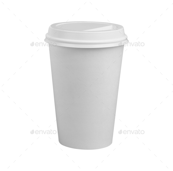 Coffee Cup isolated on white - Stock Photo - Images
