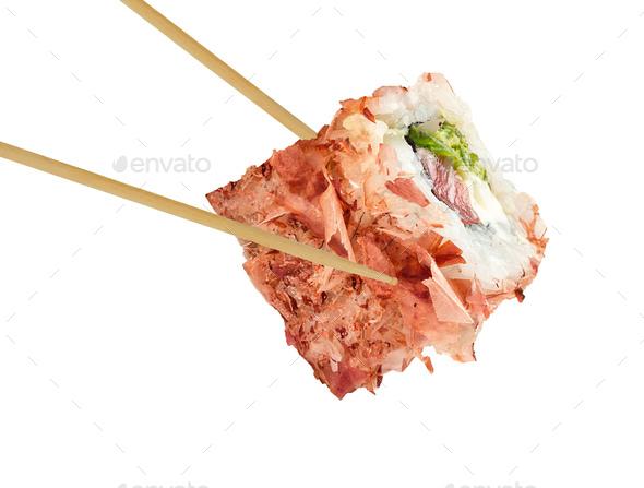 sushi roll isolated on white - Stock Photo - Images