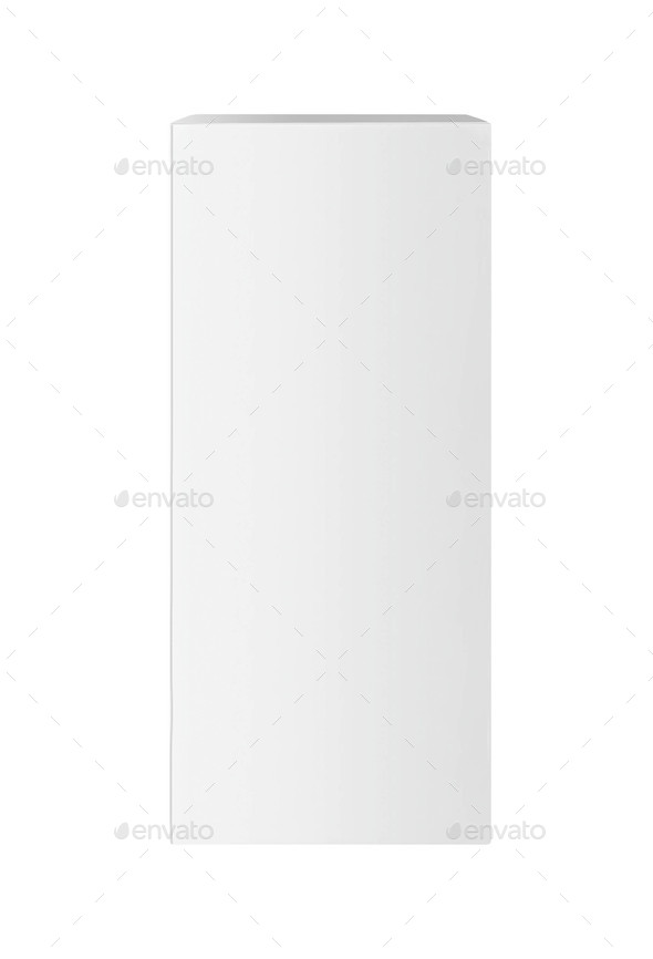 white box on white background - Stock Photo - Images
