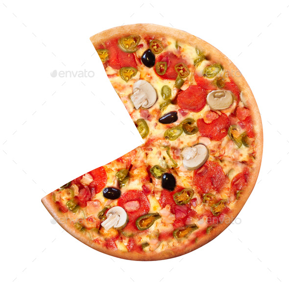 High Angle View of Fresh Baked Pizza - Stock Photo - Images