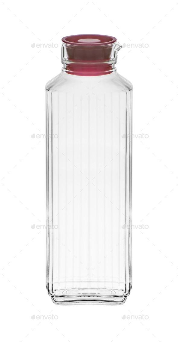 glass bottle isolated on white background - Stock Photo - Images