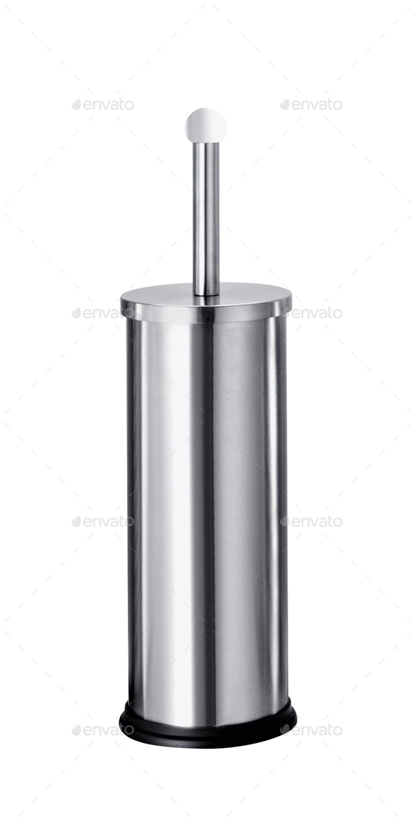 Stainless steel toilet brush - Stock Photo - Images