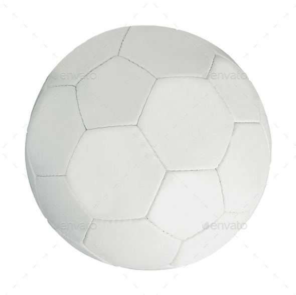 soccer ball isolated on white - Stock Photo - Images