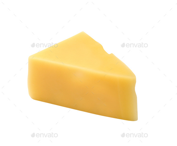 piece of cheese isolated - Stock Photo - Images