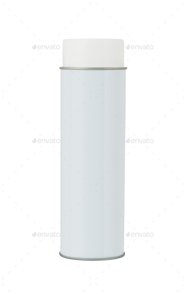 Blank aluminium spray can - Stock Photo - Images