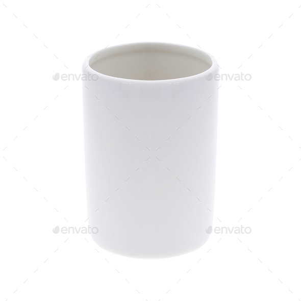 White ceramic mug - Stock Photo - Images