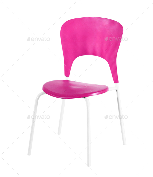 Chair on White Background - Stock Photo - Images