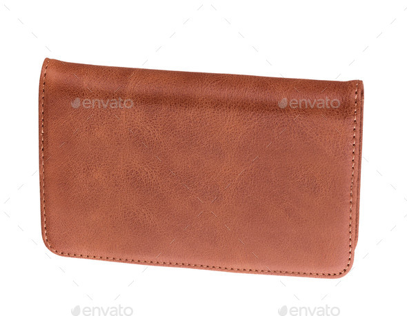 men's leather wallet isolated - Stock Photo - Images