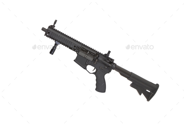 carbine isolated on a white background - Stock Photo - Images