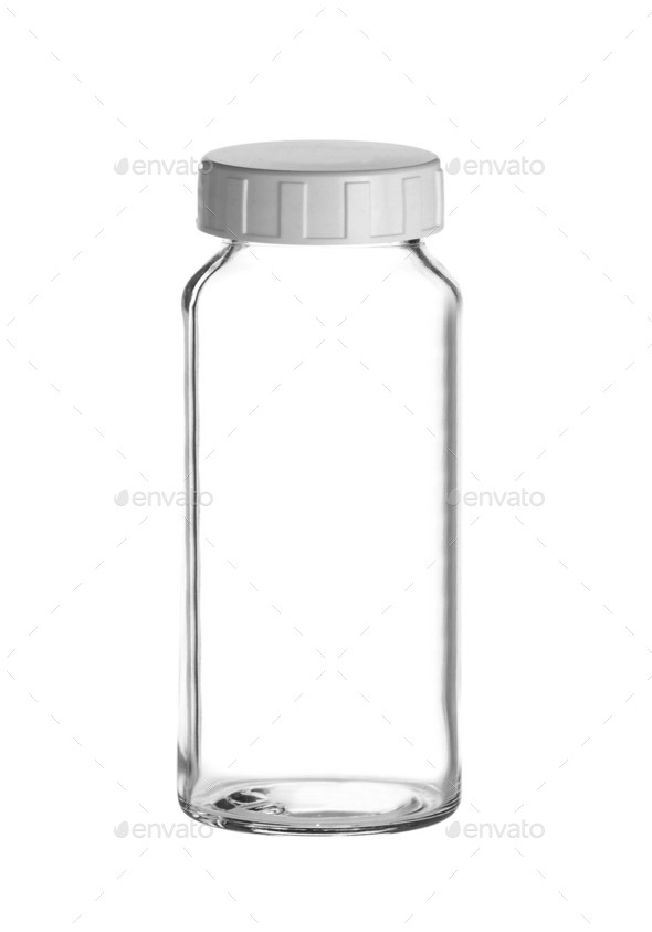 Medical bottle of clear glass - Stock Photo - Images