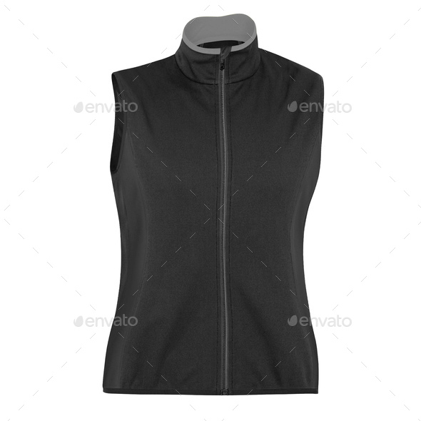 sports zipped vest isolated over white - Stock Photo - Images