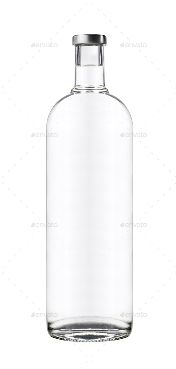 Beautifully Clear Lit Wine Bottle - Stock Photo - Images