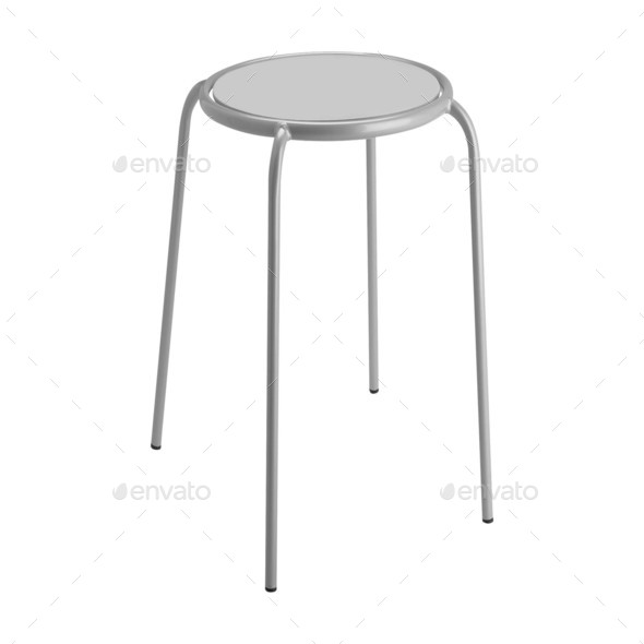 round top stool isolated - Stock Photo - Images