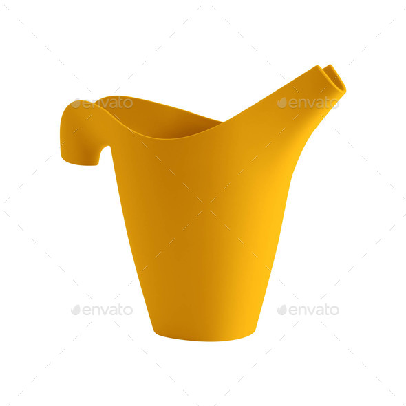 Plastic Watering Can Isolated on White - Stock Photo - Images