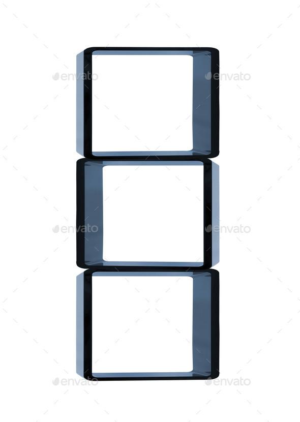 modern shelves isolated - Stock Photo - Images