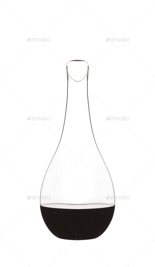 Erlenmeyer flask isolated on white - Stock Photo - Images