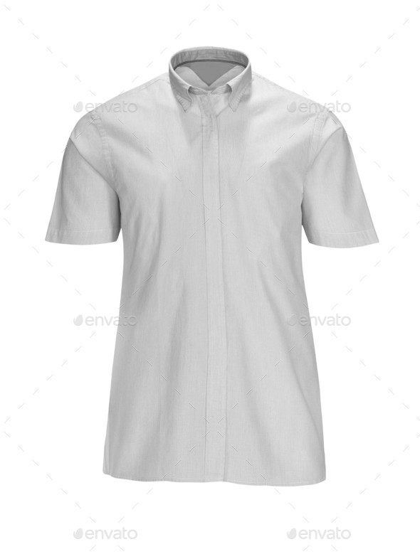 new white man's shirt - Stock Photo - Images