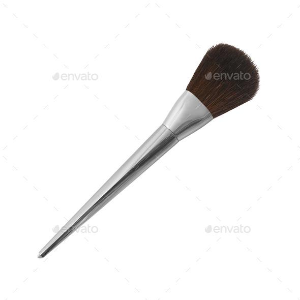 make up brush isolated on white - Stock Photo - Images