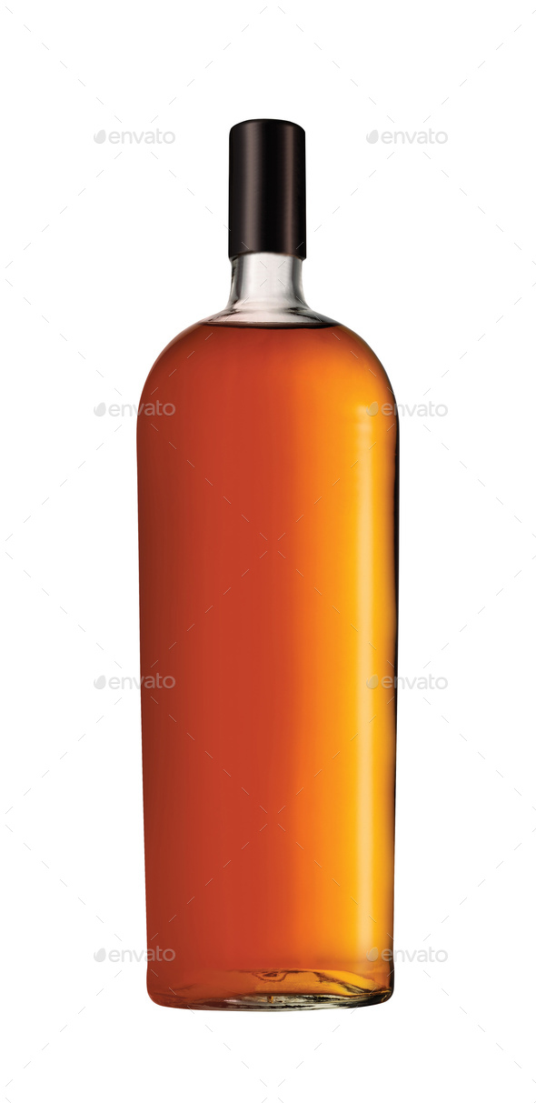 Full whiskey bottle - Stock Photo - Images