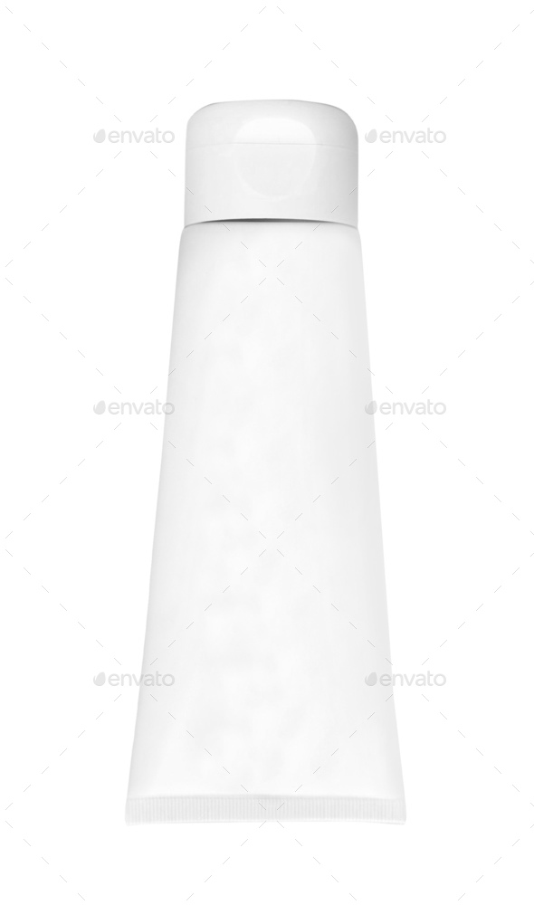 The plastic tube isolated on white - Stock Photo - Images