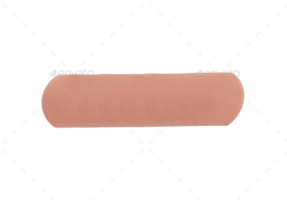bandage isolated on white - Stock Photo - Images