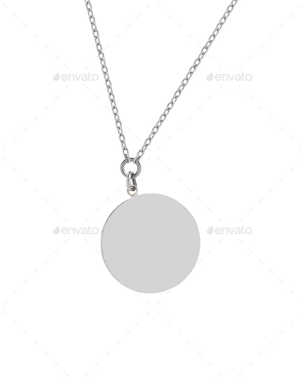 Big round silver medallion - Stock Photo - Images