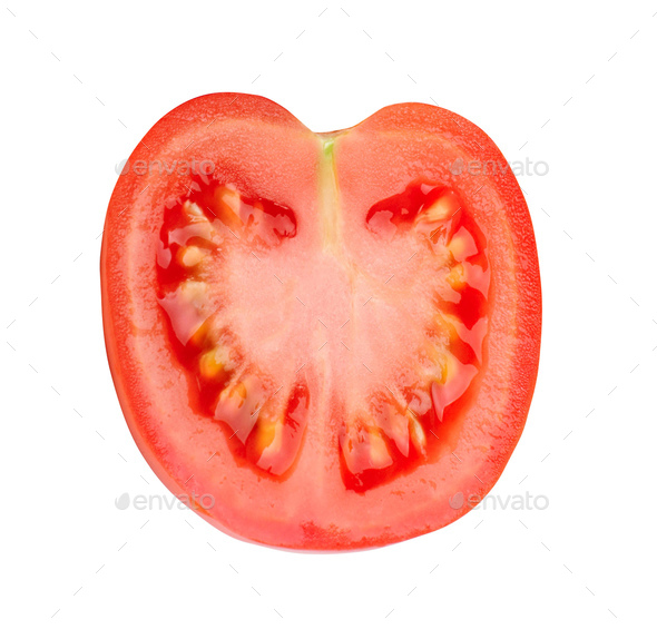 Red tomatoe on a white background - Stock Photo - Images