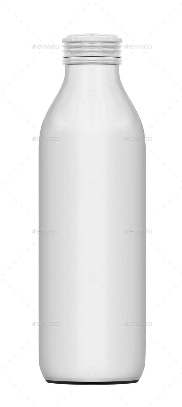 Bottle of milk isolated on white background - Stock Photo - Images