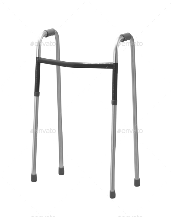 walker for elderly, disabled or injured isolated on white - Stock Photo - Images