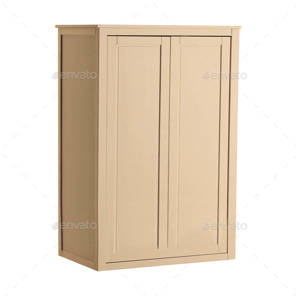 cupboard isolated on white - Stock Photo - Images