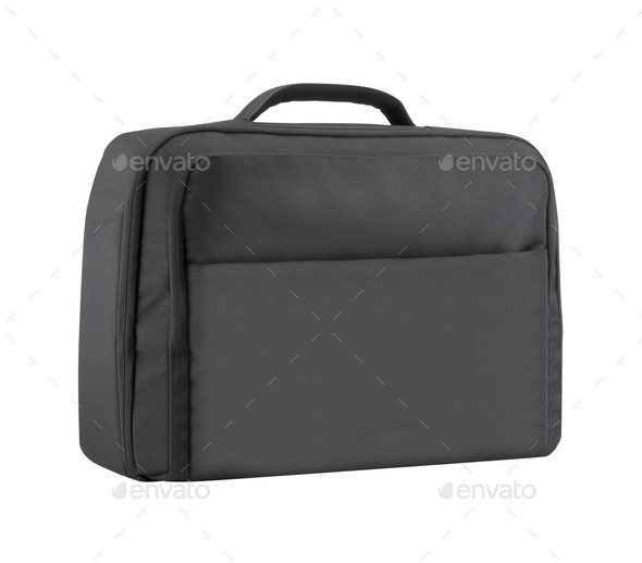 a textile briefcase for laptop - Stock Photo - Images
