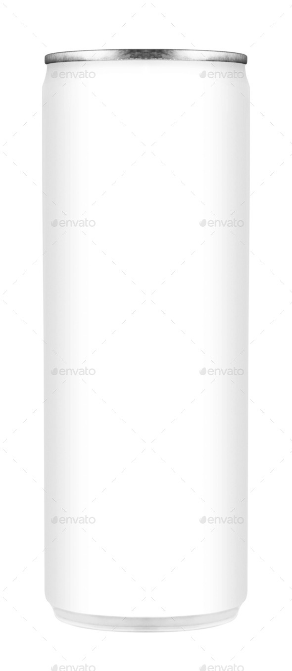 White aluminum can on white background - Stock Photo - Images