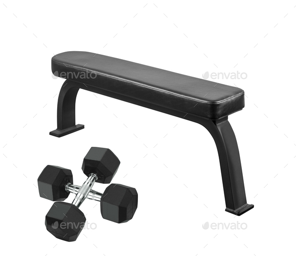 Exercise weight bench - Stock Photo - Images