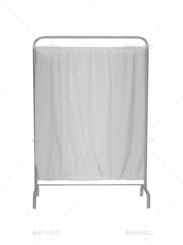 folding screen on white backround - Stock Photo - Images