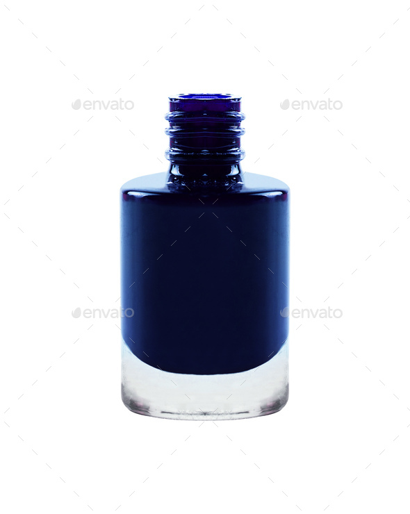 Purple nail polish isolated on white - Stock Photo - Images