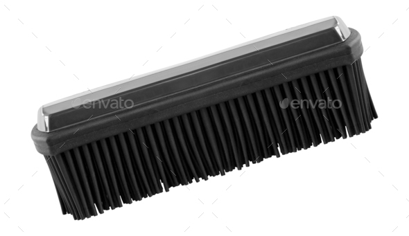 Shoe Brush Isolated on White - Stock Photo - Images
