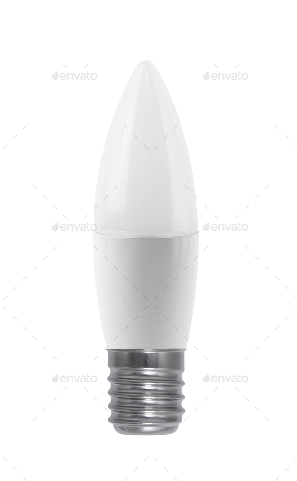 Light bulb isolated on white - Stock Photo - Images