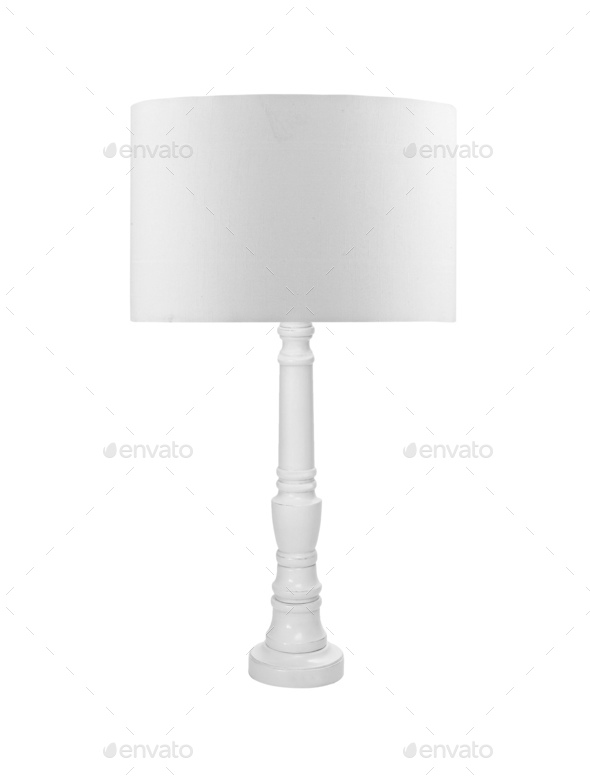 Small lamp, isolated on a white background - Stock Photo - Images