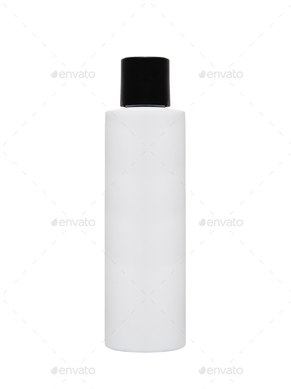 Shampoo, Gel Or Lotion Plastic Bottle - Stock Photo - Images