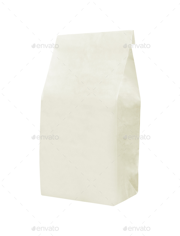 recycle white paper bag - Stock Photo - Images