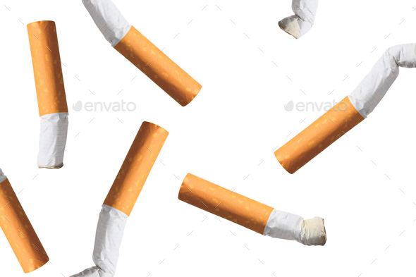 Cigarette, Broken, Cigarette Butt - Stock Photo - Images