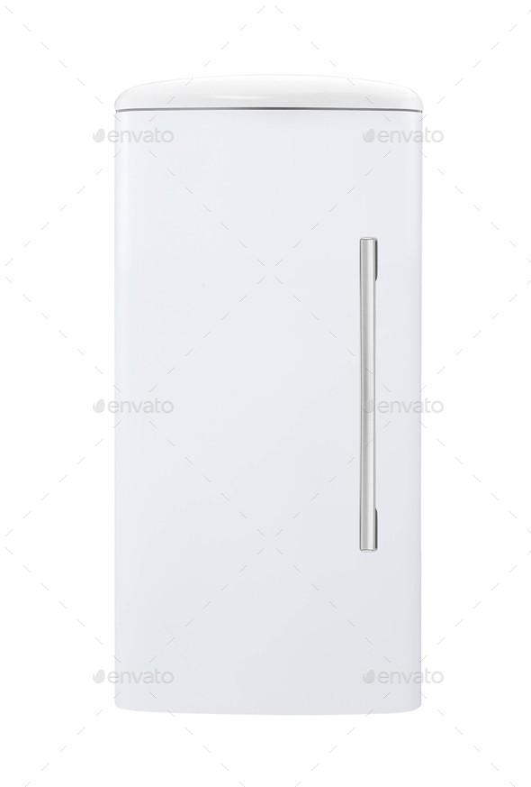 fridge freezer isolated on white - Stock Photo - Images
