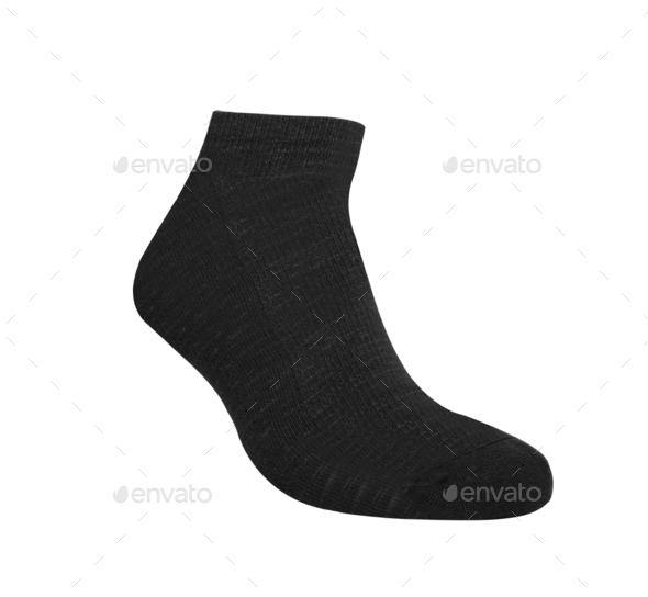 Sock isolated on white background - Stock Photo - Images