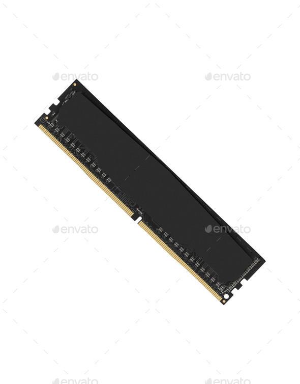 RAM memory module isolated on white background - Stock Photo - Images