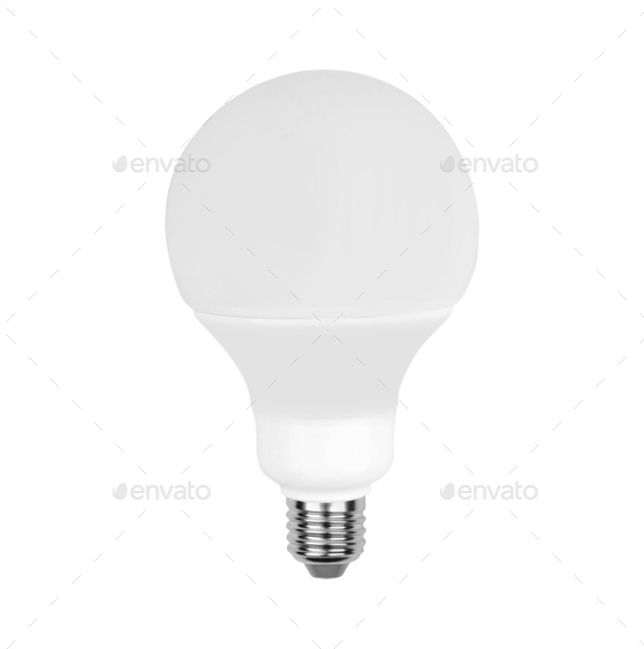 Light bulb, isolated - Stock Photo - Images