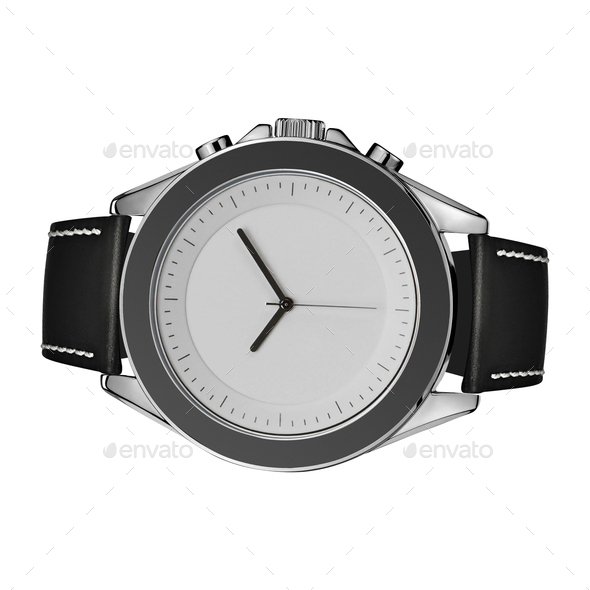Hand watch isolated on white - Stock Photo - Images