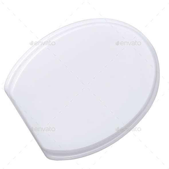 toilet seat isolated on white background - Stock Photo - Images
