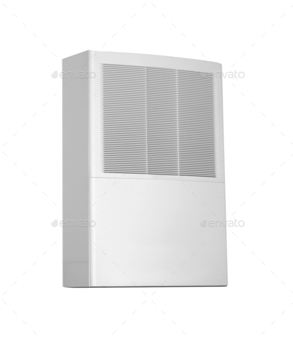 White color air conditioner - Stock Photo - Images