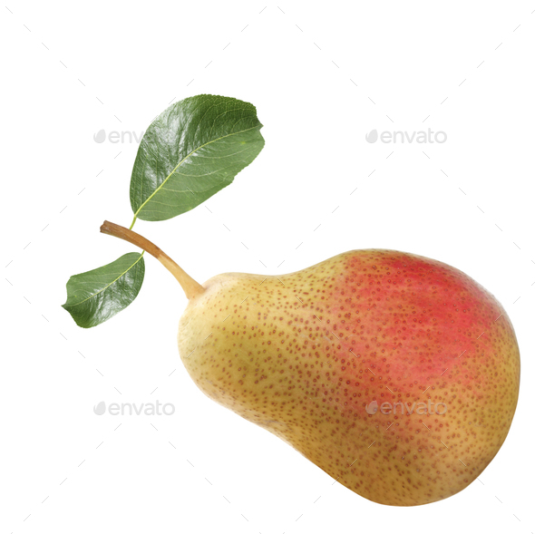 pears isolated on white background - Stock Photo - Images